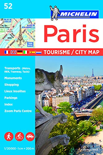 9782067211544: Plano Paris Tourisme (Michelin City Plans)