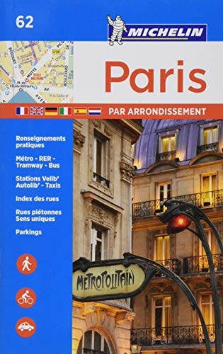 9782067211582: Paris par arrondissement - Michelin City Plan 062 (Michelin City Plans)