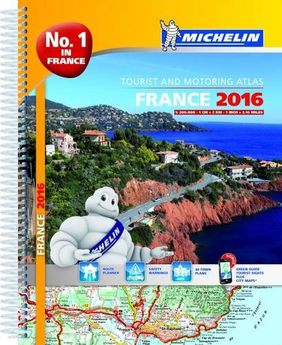 9782067211667: France 2016 Atlas - A4-Spiral Atlas (Michelin Tourist and Motoring Atlases) (French Edition)
