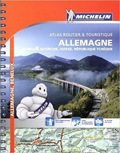 9782067211711: Michelin Road Atlas Germany, Benelux, Austria, Switzerland, Czech Republic- Michelin Tourist and Motoring Atlas (Multilingual Edition)