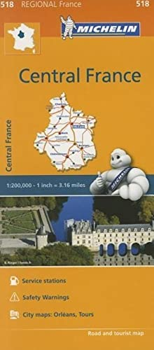 9782067211827: Michelin Regional Maps: France: Central France Map 518