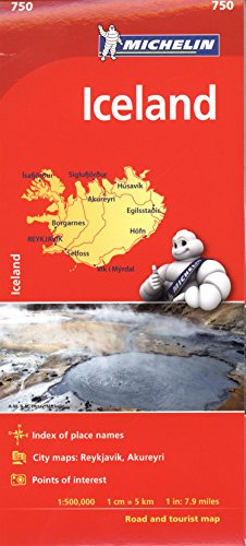9782067211902: Michelin Iceland Map 750 (Michelin Map)