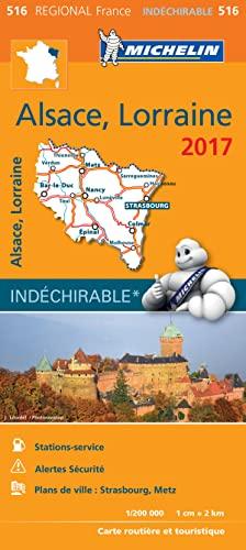 9782067219243: Carte Régionale 516 Alsace, Lorraine 2017 (French Edition)