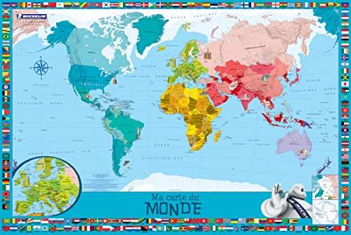 9782067226371 Ma Carte Du Monde Pour Enfants 1 Poster 1 Planche De Stickers Repositionnables Abebooks 2067226371