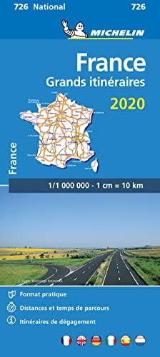 9782067244269: Carte Michelin Grands Itinéraires France 2020