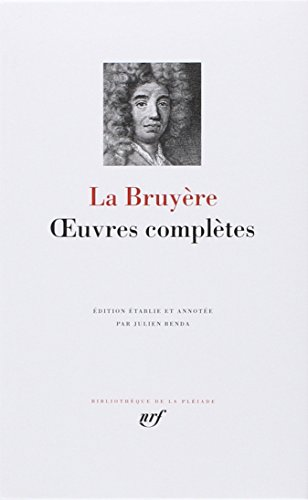 9782070102945: La Bruy�re : Oeuvres compl�tes
