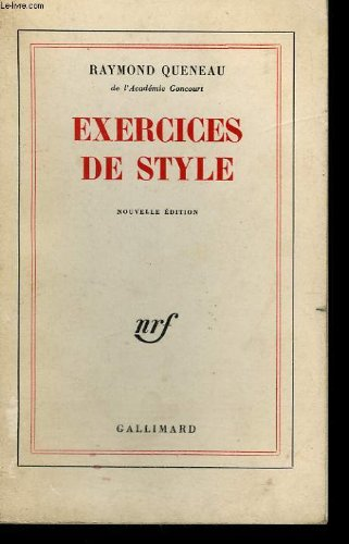 9782070104635: Exercices de style