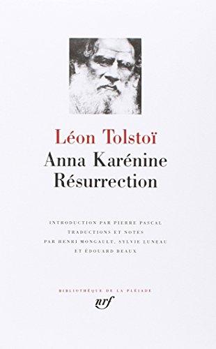 anna karenine - resurrection: Tolstoi, Leon