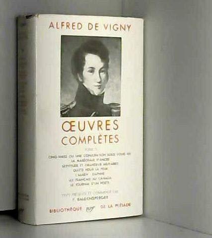 9782070105816: Alfred de Vigny : Oeuvres complètes, tome II