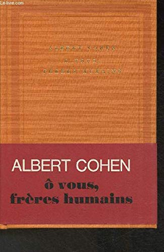 9782070107445: O vous, freres humains (Soleil)