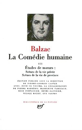 9782070108589: Balzac : La Comédie Humaine, tome 3