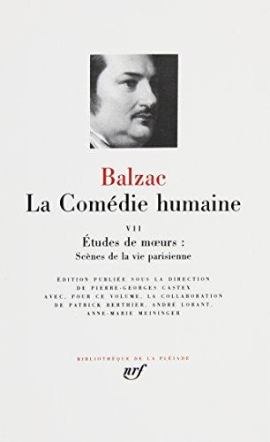 9782070108749: Balzac : La comedie humaine, tome 7 :BIbliotheque de la Pleiade (French Edition)