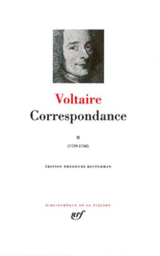 9782070109296: Correspondance 2/Janvier 1739-Decembre 1748 (English, French and French Edition)