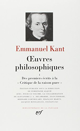 9782070109722: Kant : Oeuvres Philosophiques, tome 1