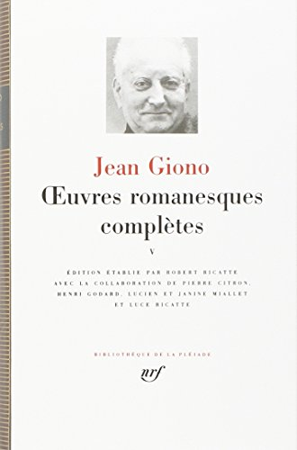 9782070109777: Giono : Oeuvres romanesques complètes, tome 5