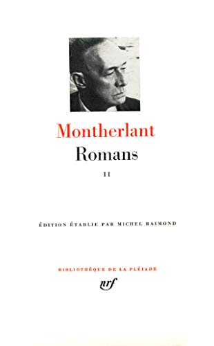 9782070110056: Henry de Montherlant : Romans, tome II