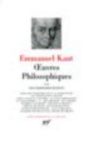 9782070111060: Kant : Oeuvres philosophiques, tome 3