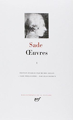 Oeuvres Completes: 1 (Bibliotheque de la Pleiade) (French Edition) (Bibliothèque de la Pléiade) (2070111903) by Marquis de Sade