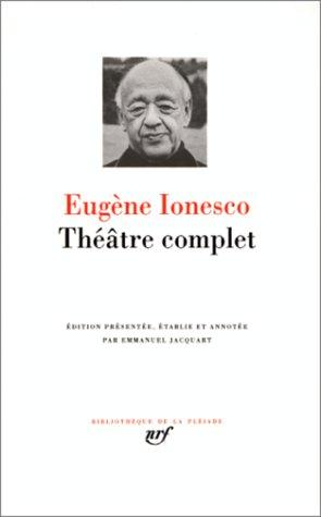 9782070111985: Ionesco : Théâtre complet