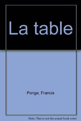 9782070112067: La table