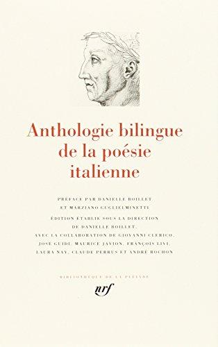 9782070113712: Anthologie bilingue de la poésie italienne