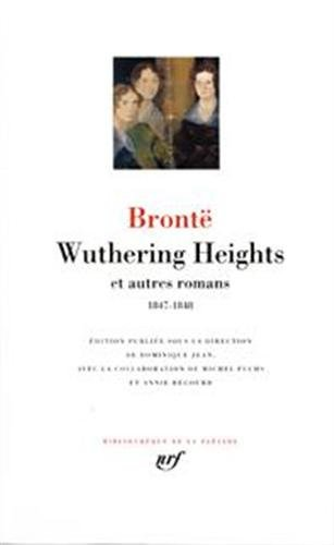 9782070114948: Wuthering Heights et autres romans