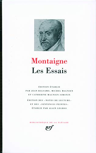montaigne essays notes The essays homework help questions how do emma's (jane austin) and montaigne's (the essays of experience) learning experiences compare i can't tell by reading your question whether you are.