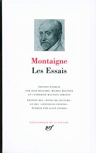 9782070115051: Les Essais - Bibliotheque de la Pleaide (French Edition)