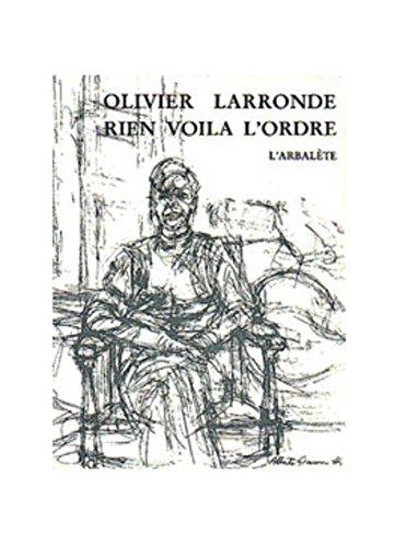 9782070115785: Rien voila l'ordre (sirène) (French Edition)