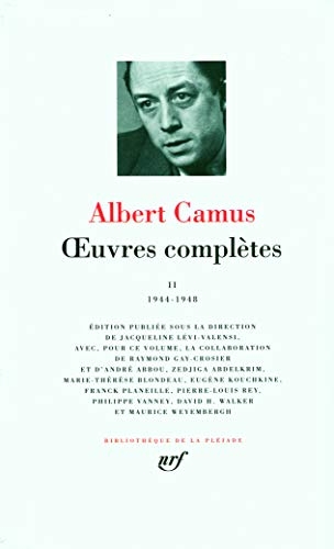 9782070117031: Oeuvres Completes 2 (1944-1946)-Bibliotheque de la Pleiade (French Edition)