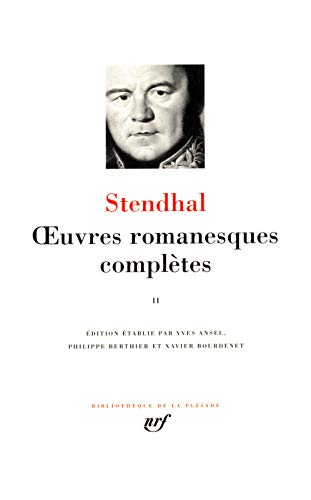 Oeuvres Romanesques Completes Tome 2 (Bibliotheque de: Stendhal