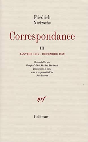 Correspondance (French Edition): Friedrich Nietzsche