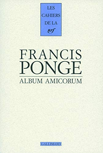 9782070123742: Francis Ponge (French Edition)