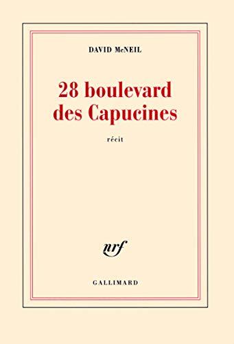 9782070125067: 28 boulevard des Capucines
