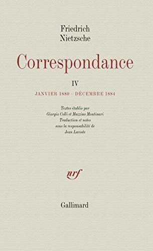 9782070126231: Correspondance (Tome 4-Janvier 1880 - Décembre 1884)