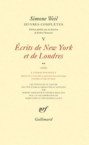 9782070142958: OEuvres compl�tes (Tome 5 Volume 2)-�crits de New York et de Londres (1943))