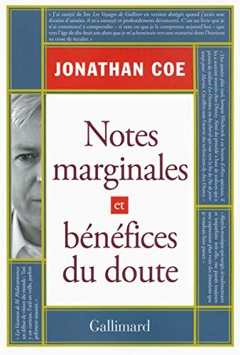 9782070147991: Notes marginales et Bénéfices du doute