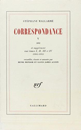 9782070186570: Correspondance V - 1982