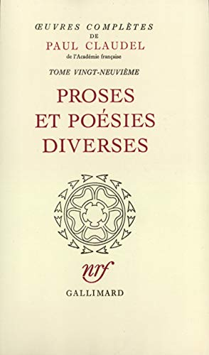 Oeuvres completes t29 (French Edition): Paul Claudel