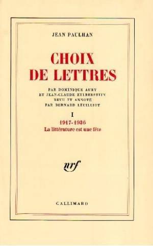 9782070188789: Choix de lettres