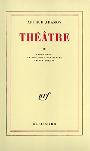 9782070200238: Theatre III (French Edition)