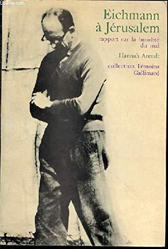 9782070202416: Eichmann � J�rusalem
