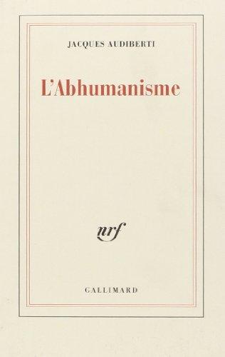 9782070203437: L'Abhumanisme