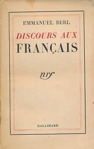 9782070206308: Discours aux français
