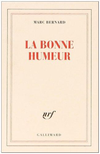 9782070206667: La Bonne Humeur