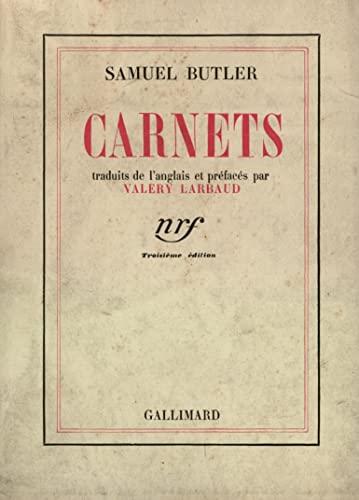 CARNETS BUTLER [Jan 07, 1936] Butler, Samuel
