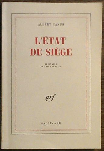 9782070212057: L'etat de siege (Blanche)