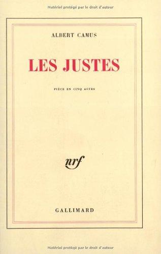 9782070212071: Les Justes: Pièce en cinq actes (Blanche)