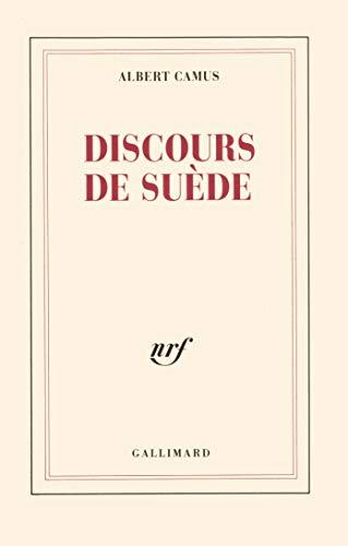 9782070212163: Discours de Suède (Blanche)