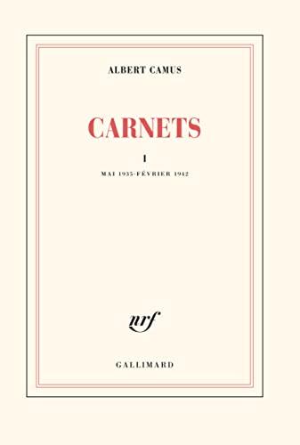 9782070212194: Carnets, tome 1: Mai 1935 - fýývrier 1942 (French Edition)